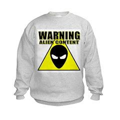 Warning Alien Content Sweatshirt