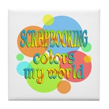 Scrapbooking Colors My World Tile Coaster