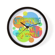 Scrapbooking Colors My World Wall Clock