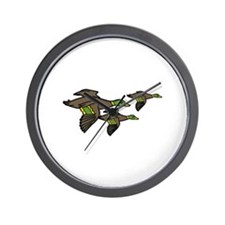 Flying Ducks Wall Clock