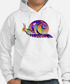 Polygon Mosaic Snail Multicolored Hoodie