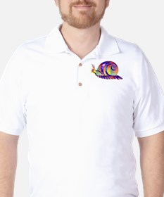 Polygon Mosaic Snail Multicolored Golf Shirt