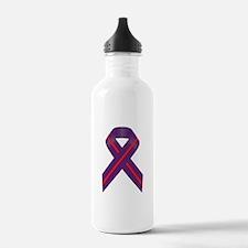 Purple With Red Stripe Water Bottle