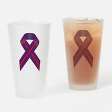 Purple With Red Stripe Awareness Ri Drinking Glass