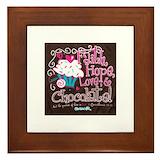 Faith hope love and chocolate frame Framed Tiles