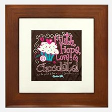 Funny Chocolate Framed Tile