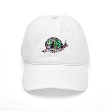 Polygon Mosaic Snail Purple Green Baseball Baseball Cap