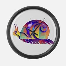 Polygon Mosaic Snail Multicolored Large Wall Clock
