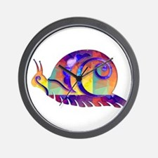 Polygon Mosaic Snail Multicolored Wall Clock