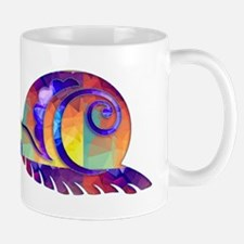Polygon Mosaic Snail Multicolored Mugs