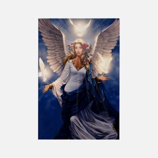 angel of light Rectangle Magnet