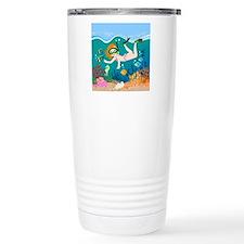 Girl swimming in tropical sea Travel Mug