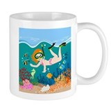 Beach scene Coffee Mugs
