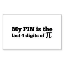my pin last 4 digits of pi Decal