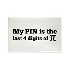 my pin last 4 digits of pi Magnets