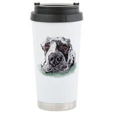 Great Dane Taped Merle Travel Mug