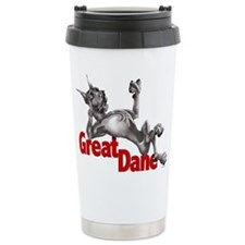Great Dane Black LB Travel Coffee Mug