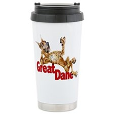 Great Dane Brindle LB Travel Mug