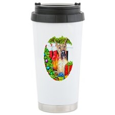 Great Dane Stockings Brindle Travel Mug