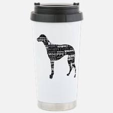 Whippet Silhouette BN Travel Mug