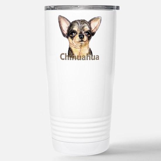 Chihuahua Black & Tan Stainless Steel Travel Mug