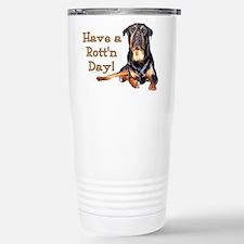 Rottweiler Rott'n Day Stainless Steel Travel Mug