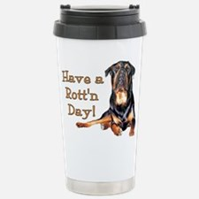 Rottweiler Rott'n Day Travel Mug