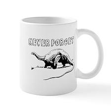 never forget dinosaur Mugs