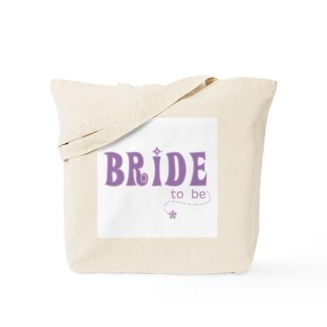 Bride to Be Purple Tote Bag