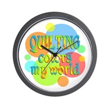 Quilting Colors My World Wall Clock