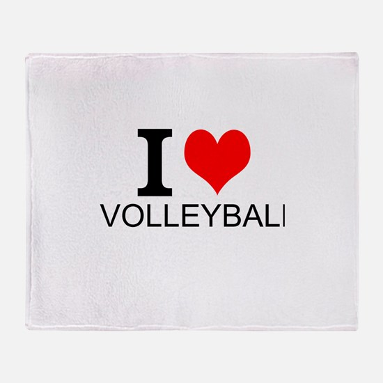 I Love Volleyball Throw Blanket