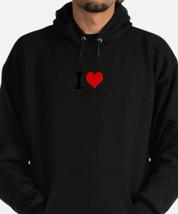 I Love Volleyball Hoodie