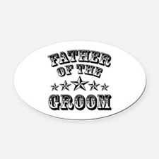 Cool Father Of The Groom Wedding Oval Car Magnet