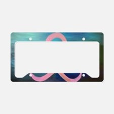 Unique Fight like girl breast cancer License Plate Holder