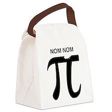 Nom nom pi Canvas Lunch Bag