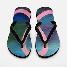 Cute Fight breast cancer research Flip Flops