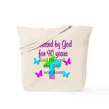 90TH LOVE JESUS Tote Bag