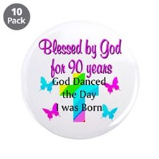 "90TH LOVE JESUS 3.5"" Button (10 pack)"