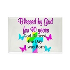 90TH LOVE JESUS Rectangle Magnet