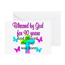 90TH LOVE JESUS Greeting Card