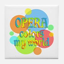 Opera Colors My World Tile Coaster