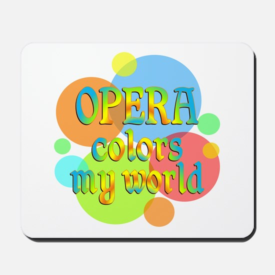 Opera Colors My World Mousepad