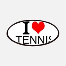 I Love Tennis Patches