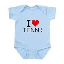 I Love Tennis Body Suit