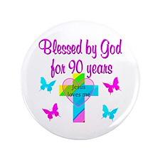"CHRISTIAN 90TH 3.5"" Button"