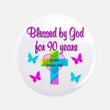 "CHRISTIAN 90TH 3.5"" Button"