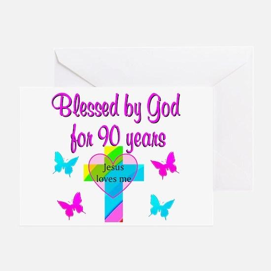 CHRISTIAN 90TH Greeting Card