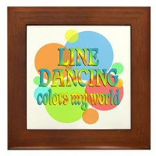 Line Dancing Colors My World Framed Tile