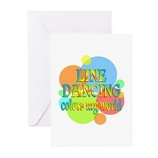 Line Dancing Colors My W Greeting Cards (Pk of 10)