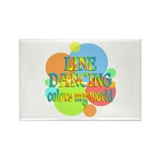 Line Dancing Colors My World Rectangle Magnet